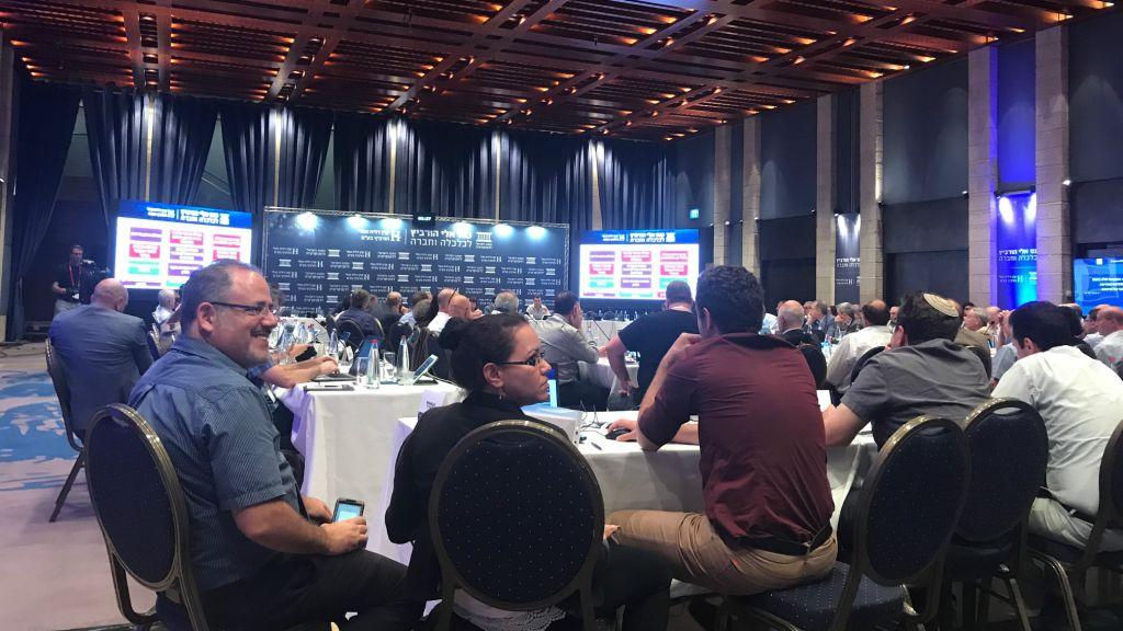 Les politiques et les chefs d'entreprise se sont rencontrés à l'occasion de la Conférence Eli Hurvitz de Jérusalem, le 19 juin (Crédit : Shoshanna Solomon/Times of Israel)
