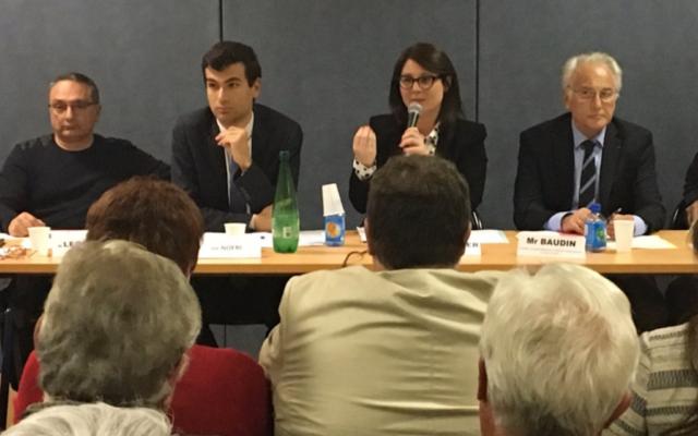 Gaël Nofri, 2e à gauche, lors d'une commission transport de la municipalité de Nice. (Crédit : capture d'écran Twitter/GaelNofri)