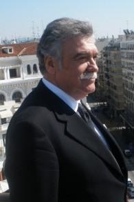 Le dirigeant de la communauté juive greque David Saltiel (Crédit : Gavriel Fiske/Times of Israel)