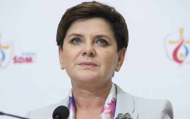 La première ministre polonaise, Beata Szdilo. (Crédit : bureau de la Première ministre)