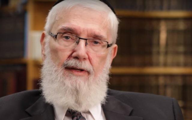 Le rabbin Meir Zlotowitz, fondateur des éditions ArtScroll, décédé le 23 juin 2017. (Crédit : capture d'écran YouTube )