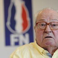 Jean-Marie Le Pen fondateur du Front national, en conférence de presse à Marignane, le 31 mai 2017. (Crédit : Franck Pennant/AFP)