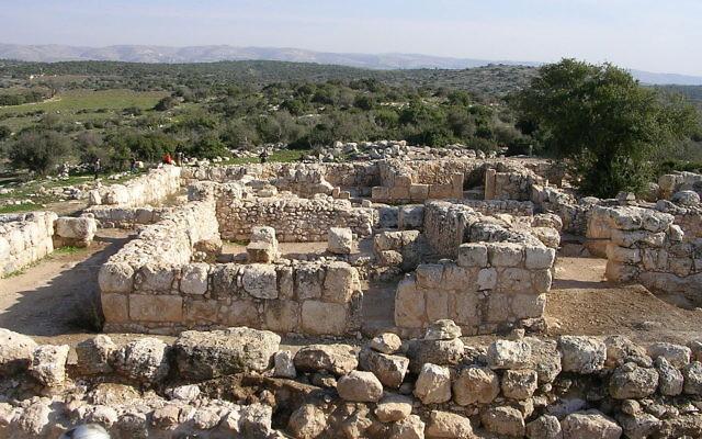 Ruines à Adoulam (Crédit : domaine public)