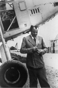 Antoine de Saint-Exupéry à Toulouse, France, en 1933. (Crédit : AFP/domaine public/WikiCommons)
