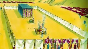 Interprétation du Saint Tabernacle par des artistes (Crédit : Free Bible Images)