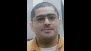 Nashat Milhem, l'Israélien arabe  qui a tué trois Israéliens à Tel Aviv le 1er janvier 2016 (Crédit : Police israélienne)