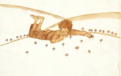 Antoine de Saint-Exupéry avait offert à son amie Sylvia Hamilton ces croquis préparatoires à l'illustration de son chef-d'œuvre. Artcurial les a vendus à Paris, le 14 juin 2017. (Crédit : Artcurial)