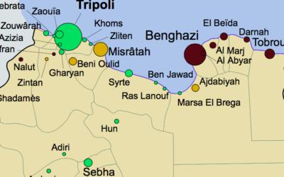 Carte de la Libye (Crédit : domaine public)