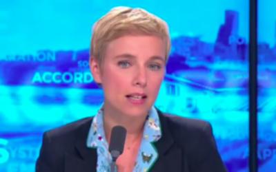 Clémentine Autain, élue en Seine-Saint-Denis pour La France Insoumise, le 13 juillet 2017. (Crédit : capture d'écran YouTube)