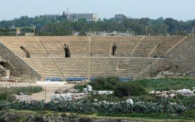 L'amphithéâtre romain de Césarée. Illustration. (Crédit : Moshe Shai/Flash90)