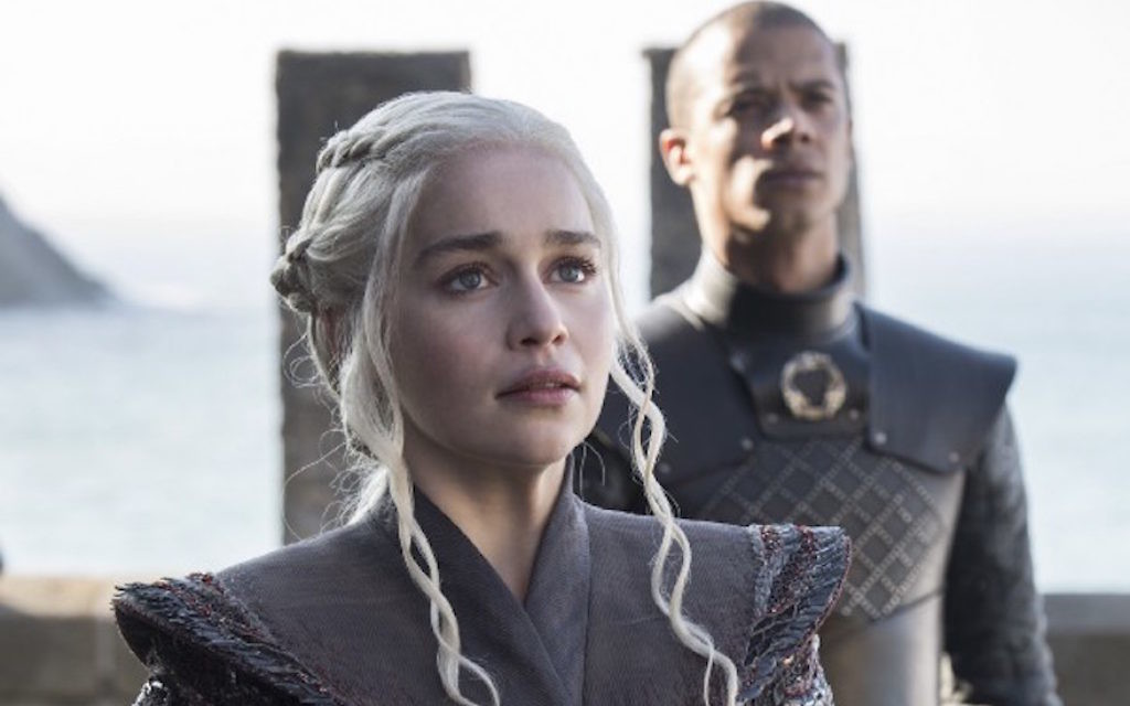 "Emilia Clarke incarne Daenerys Targaryen dans laseptième saison de ""Game of Thrones"". (Crédit : Macall B. Polay/HBO)"