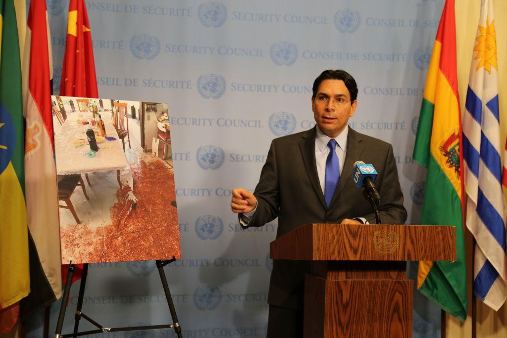 Danny Danon à l'ONU, le 24 juillet 2017 (Crédit : autorisation)