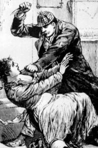 Un dessin de 1888 de la Gazette de la Police dépeignant Jack l'éventreur (Crédit : Domaine public)