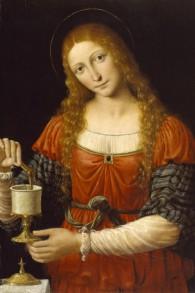 « Marie-Madeleine », attribué à Andrea Solario et Bernardino Luini (vers 1524 après JC) (Crédit : The Walters Art Museum)
