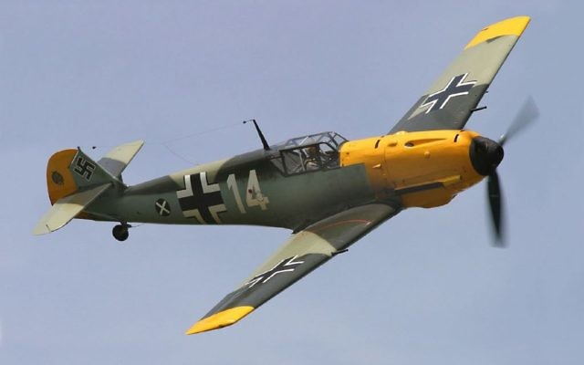 Image d'illustration d'un avion  A Messerschmitt Bf 109E photographié lors de Thunder Over Michigan en 2006. (Crédit : CC BY D. Miller, Wikimedia commons)