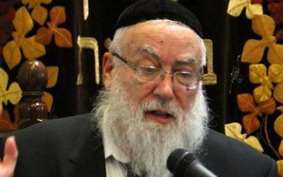 Le rabbin Nachum Eistenstein (Autorisation, via JTA)