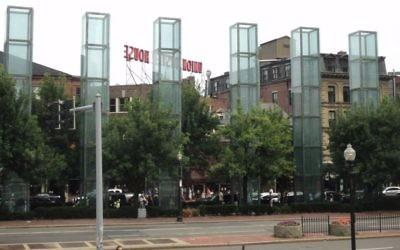 Le mémorial de l'Holocauste de Nouvelle-Angleterre à Boston, dans le Massachusetts. (Crédit : CC BY-SA 3.0, Wikipedia)