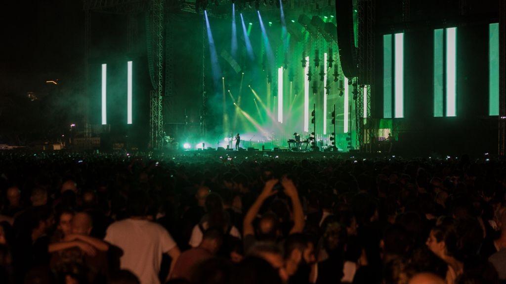 Le groupe de rock britannique Radiohead, en concert au Park HaYarkon de Tel Aviv, le 19 juillet 2017. (Autorisation)