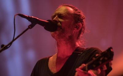 Thom Yorke, chef du groupe de rock britannique Radiohead, en concert au Pak HaYarkon de Tel Aviv, le 19 juillet 2017. (Autorisation)