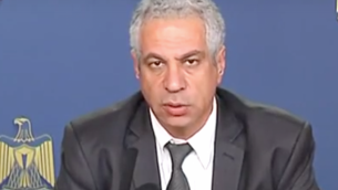 Shawqi al-Issa, ancien ministre des Affaires sociales de l'Autorité palestinienne. (Crédit : capture d'écran YouTube)