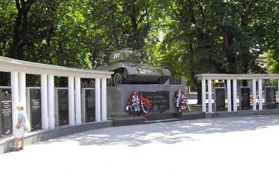 Un monument de la Seconde guerre mondiale, à Simferopol, en Crimée. (Crédit : CC BY SA 3.0 Rumlin/Wikipedia)