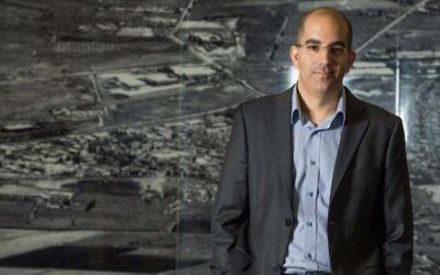 Adi Dar, le PDG de Cyberbit (Crédit : autorisation Gilad Kawalchik)