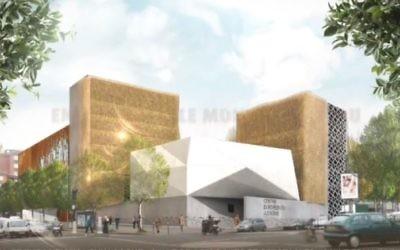 Le futur Centre européen du judaïsme de Paris, qui devrait être inauguré entre Hanoukka 2017 et Pessah 2018. (Crédit : capture d'écran Vimeo)