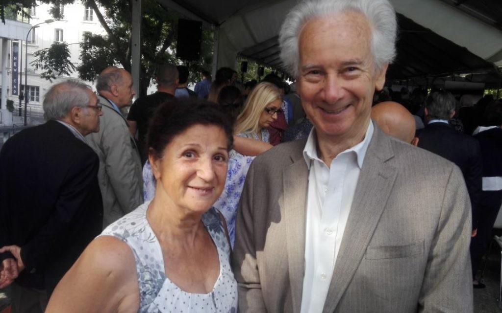 Daniel et Daisy Szerniewicz à la cérémonie de souvenir de la rafle du Vel' d'Hiv', le 16 juillet 2017 (Crédit: Pierre-Simon Assouline)