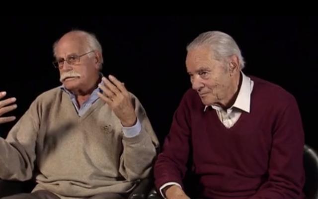 A gauche, Eugène Handschuh, disparu le 8 juillet 2017, dans le documentaire Les Évadés de Drancy (Crédit: capture d'écran Dailymotion)