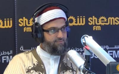 Le prédicateur Farid El-Beji pourrait être poursuivi pour accusation de mécréance, interdite par la Constitution tunisienne (Crédit: capture d'écran Youtube/Shems FM)