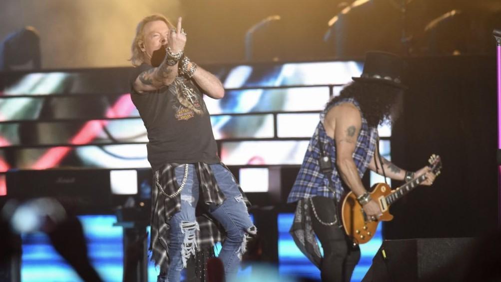 """La tournée """"Not in this Lifetime"""" du groupe Guns N' Roses s'est achevée à Tel Aviv, le 15 juillet 2017. (Crédit : Lior Keter)"""