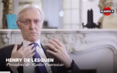 Henry de Lesquen, président de Radio Courtoisie. (Crédit : capture d'écran Youtube)