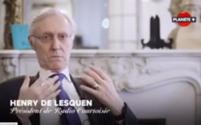 Henry de Lesquen, ancien président de Radio Courtoisie. (Crédit : capture d'écran Youtube)
