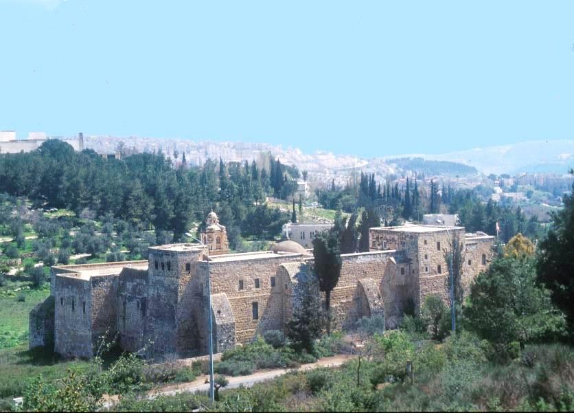 Le monastère de la croix (Crédit : Shmuel Bar-Am)