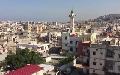 Le camp de réfugiés palestiniens d'Ain al-Hilweh, dans le sud du Liban. Illustration. (Crédit : capture d'écran YouTube)