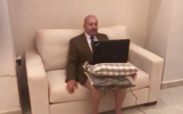 Un analyste politique jordanien interrogé sur Al Jazeera (Crédit : capture d'écran)
