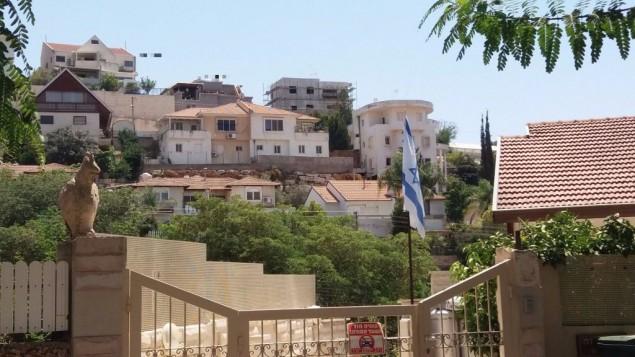 Des maisons situées à Shaarei Tikva (Crédit : Dror Etkes)