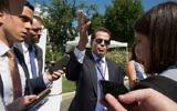 Anthony Scaramucci, alors directeur de la communication de la Maison Blanche, à Washington, D.C., le 25 juillet 2017. (Crédit : Tasos Katopodis/AFP)