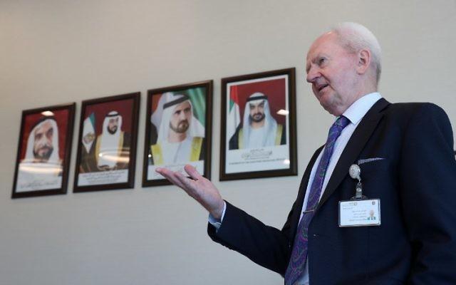 Christer Viktorsson, le directeur suédo-finnois de l'Autorité fédérale pour la régulation nucléaire (FANR) des Emirats arabes unis, à Abou Dhabi, le 10 août 2017. (Crédit : Karim Sahib/AFP)