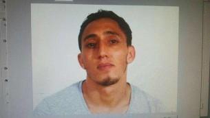 Driss Oubakir, suspect dans l'attentat terroriste de Barcelone, le 17 août 2017. (Crédit : Spanish National Police)