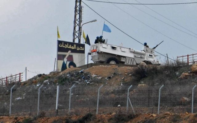 Une patrouille de la FINUL à la frontière israélo-libanaise. Illustration. (Crédit : Hamad Almakt/Flash90)