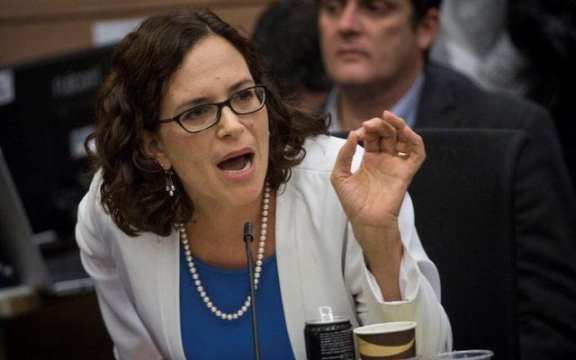 Rachel Azaria, membre de la Knesset. (Crédit : Hadas Parush/Flash90)