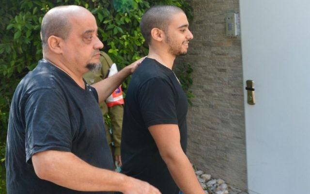 Elor Azaria, ancien soldat israélien, devant la cour martiale de la Kirya, à Tel Aviv, le 8 août 2017. (Crédit : Roy Alima/Flash90)