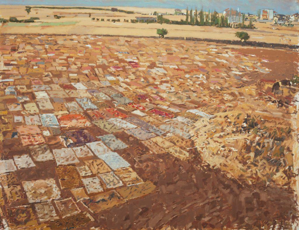 Des tapis posés en plein air à proximité de Julis dans 'Tapis 2014', par Fatma Shanan (Autorisation : Fatma Shanan)