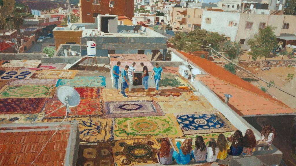 'Maison 2014' peint par Fatma Shanan, d'un projet de quartier dans son village druze de Julis (Autorisation  :  Fatma Shanan)