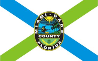 Drapeau du comté de Miami-Dade. (Crédit : domaine public)