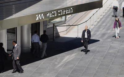 Le siège de Goldman Sachs à New York le 14 mars 2012 (Crédit : Mario Tama/Getty Images via JTA)
