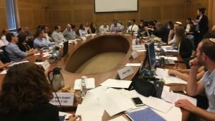 Une commission de la Knesset, le 31 juillet 2017. Illustration. (Crédit : Times of Israël)
