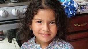 Une petite fille du Nicaragua qui fait partie de la communauté juive croissante à Managua, le 20 juillet 2017