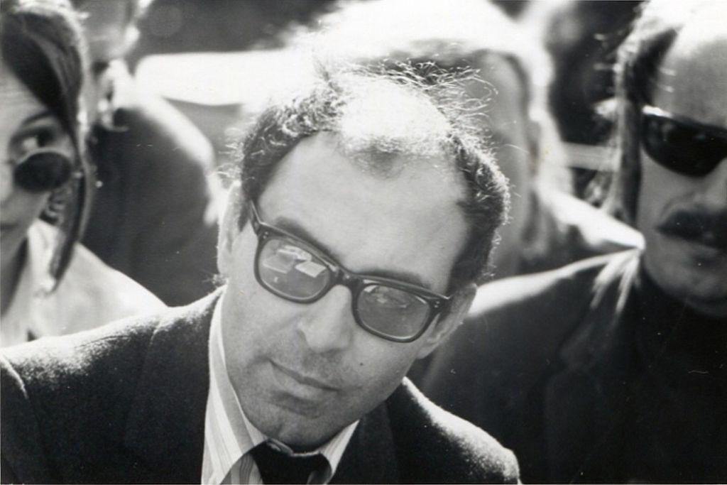 Jean-Luc Godard à Berkeley, en 1968. (Crédit : Gary Stevens/CC BY 2.5/WikiCommons)